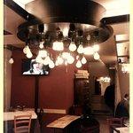 il lampadario in sala