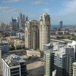 Udsigt mod nye Dubai og marinaen