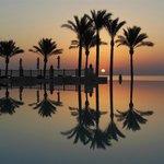Makadi Spa's Infinity pool by dawn