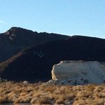 Note the DV marked on the side of the mountain for Death Valley
