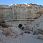 View of miner's cave dwellings