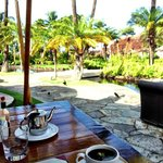 Breakfast Outdoors at Hotel Restaurant
