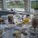 Petit-déjeuné impeccable