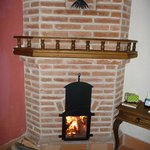 Well-designed fireplace