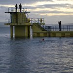 Diving platform at Salthill Beach