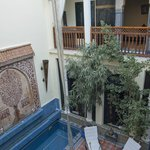 Riad 58 Blu central courtyard, day