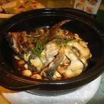 peixe cozido, prato típico da região