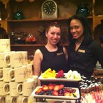 Outstanding staff at Rick's, complimentary pastries, fruit, cheese, wine
