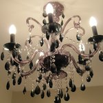 Interesting black crystal chandelier
