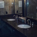 Sink area in the womens restroom