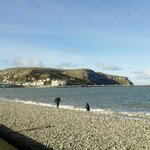 North Shore beach looking towards the Great Orme