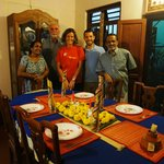 Photo with Motty and Lali in Dining Room