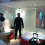 bathroom and hot tub