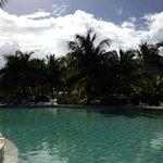 The pool area at the Radisson Blu