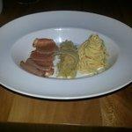 Gammon with sauerkraut