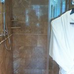 Walk in shower, really nice!
