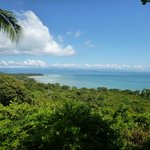 View of Golfo Dulce from path rest spot 2