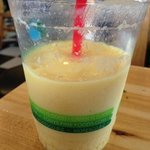mango shake. the fruit shakes are great here.