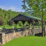 Covered Bridge at Log Cabin Property