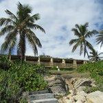 Hurricane Luis ruined hotel at Half Moon Bay