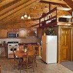 Family Log Cabin Fully Equipped Kitchen