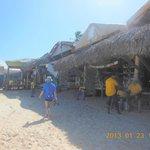 Shopping market down the beach