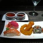 Sushi appetizer at Mikado