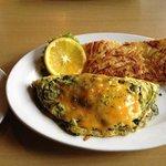 spinach/mushroom omelet