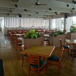 The dining room, which was almost always empty