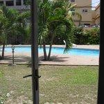 piscine, accessible , vue de la piece de vie, de plein pied