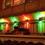 Stage lit for the Christmas concert
