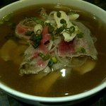 Pho - rare beef and chicken