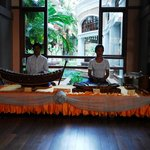 Live music with traditional instruments during the day - lobby