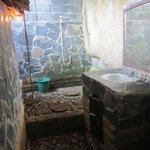 Cool open air bathroom but note the demon floor!