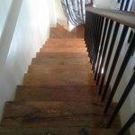dusty unpolished stairways