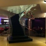 Stairway in the lobby