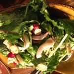 Fresh salad - a touch of Granada with the sprinkled pomegranate jewels