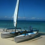 Hobie on the beach at Silk Cayes