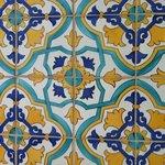 Detail of bathroom tile floor