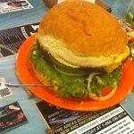 3 lbs. burger.