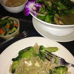 double greens in green curry