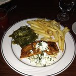 blackened salmon with herbs