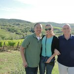 Sergio stopped at one of the most beautiful views in Chianti region to take th