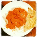 My chicken tikka masala (no spice) take out + butter naan