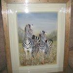 Liz's painting of zebras