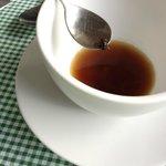 bee in the coffee press