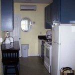 The full kitchen with full size appliances