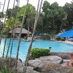 Pool with poolbar