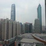 View from the room of the two (current) tallest buildings in Shenzhen