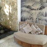 Viiew of one of the many relaxing areas within the villa